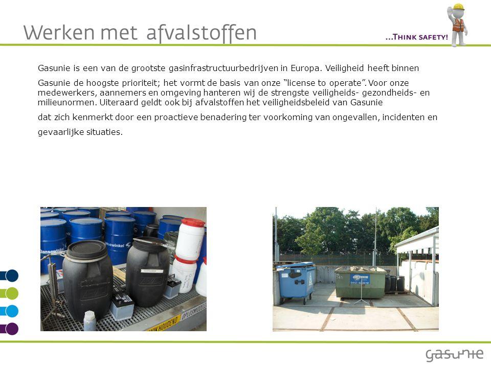 Wat is afval.We produceren jaarlijks als Gasunie ongeveer 19.000 ton afval.