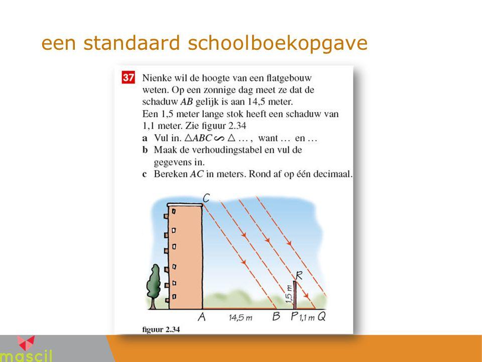 een standaard schoolboekopgave