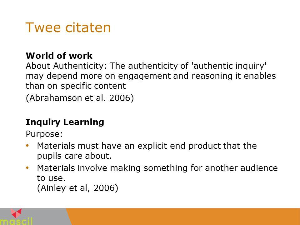 Ontwerprincipes (2) Rijke beroepscontexten toevoegen (of gebruiken als start van het ontwerp) Leerlingen een (beroeps)rol geven Activiteiten inbouwen die vergelijkbaar zijn met werkzaamheden van beroepsbeoefenaar Als resultaat een product voor een doelgroep vragen