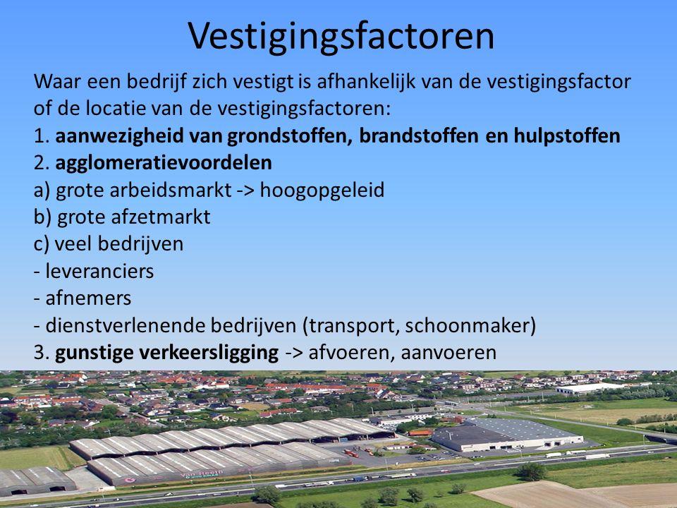 Footloose bedrijven Vestigingsplaats - onbelangrijk voor footloose bedrijven - inertie: de voordelen van de vestigingsplaats zijn verdwenen, maar verplaatsten levert ook erg veel kosten op.