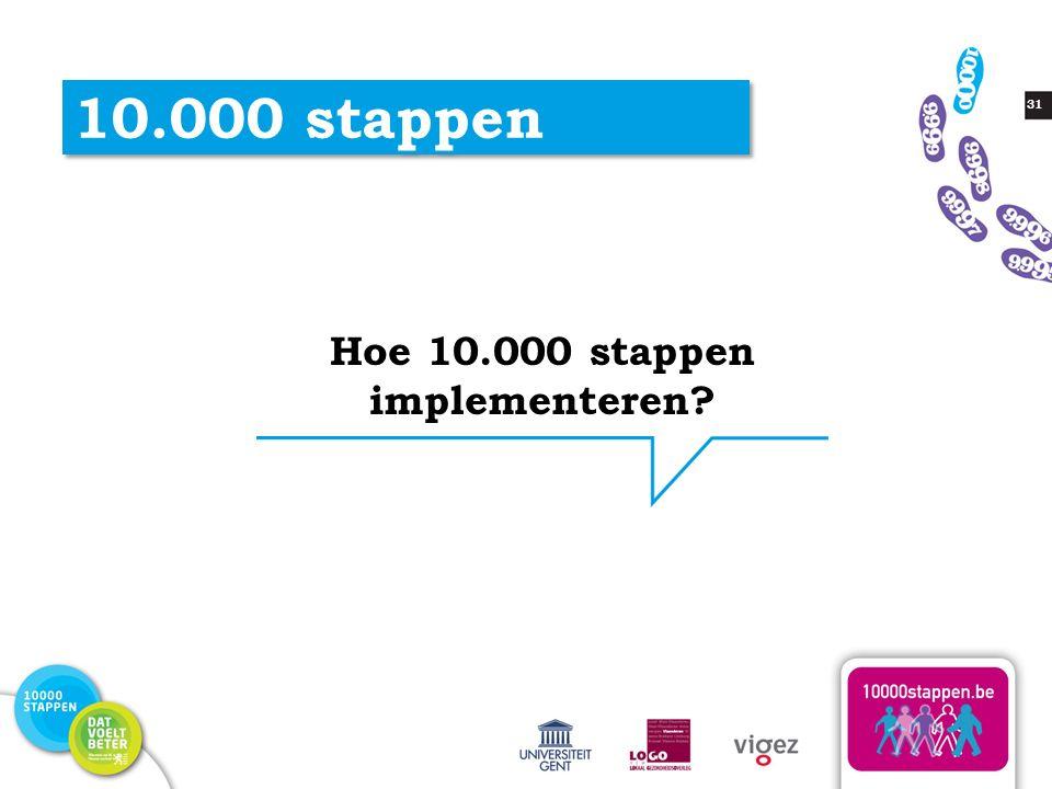 31 10.000 stappen Hoe 10.000 stappen implementeren?