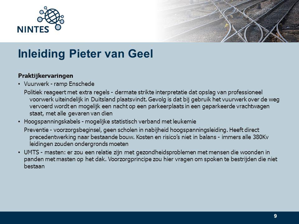 Click to edit Master text styles Second level Third level Fourth level Fifth level 10 Inleiding Pieter van Geel (2) Conclusies Spanningsveld tussen beleid en resultaten (dwang vs.