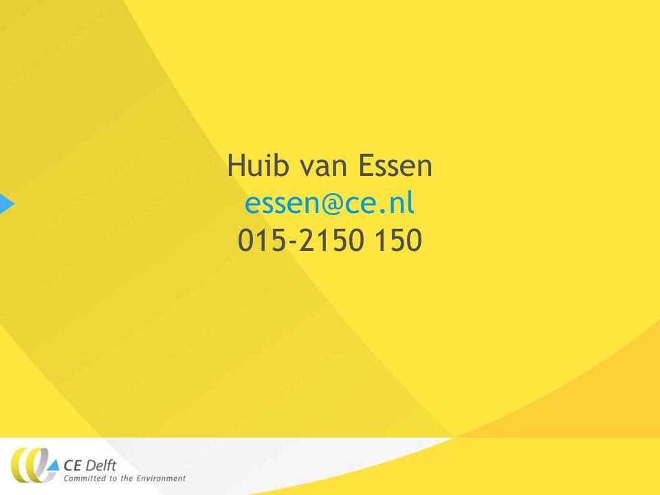 Huib van Essen essen@ce.nl 015-2150 150