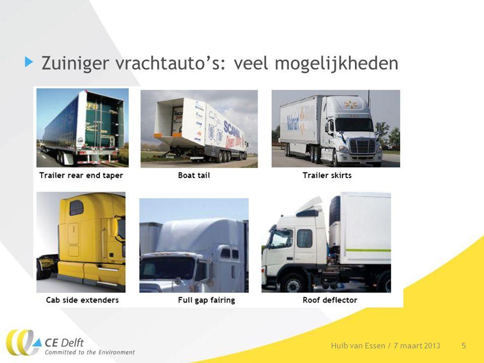 Zuiniger vrachtauto's: veel mogelijkheden 5Huib van Essen / 7 maart 2013