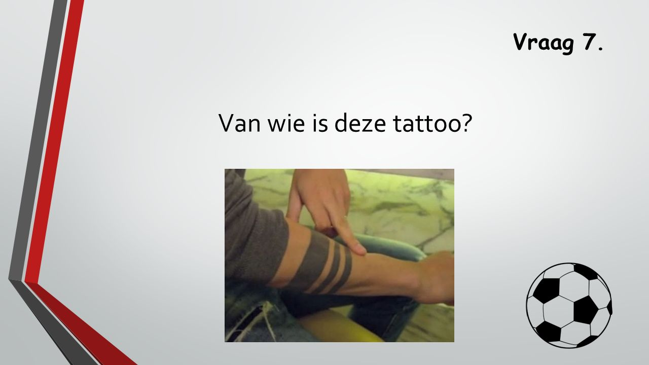 Vraag 7. Van wie is deze tattoo?