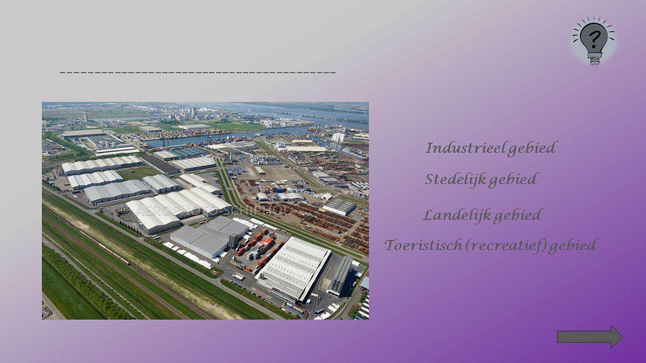 ______________________________ Stedelijk gebied Landelijk gebied Industrieel gebied Toeristisch (recreatief) gebied