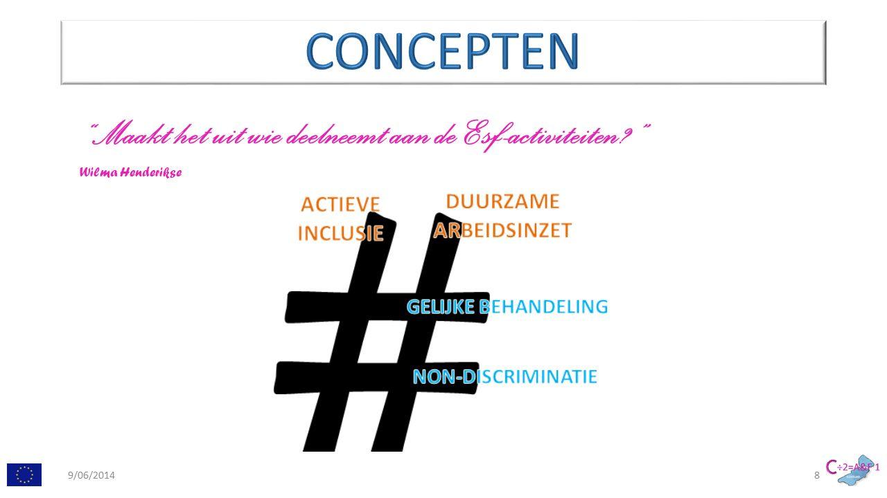 Maakt het uit wie deelneemt aan de Esf-activiteiten Wilma Henderikse 9/06/20148