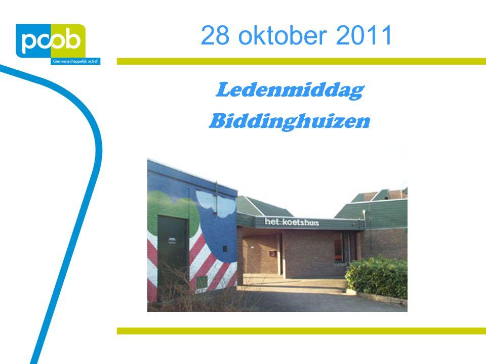 28 oktober 2011 Ledenmiddag Biddinghuizen