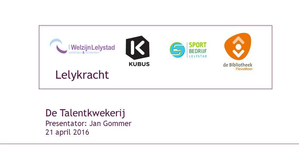 De Talentkwekerij Presentator: Jan Gommer 21 april 2016 Lelykracht