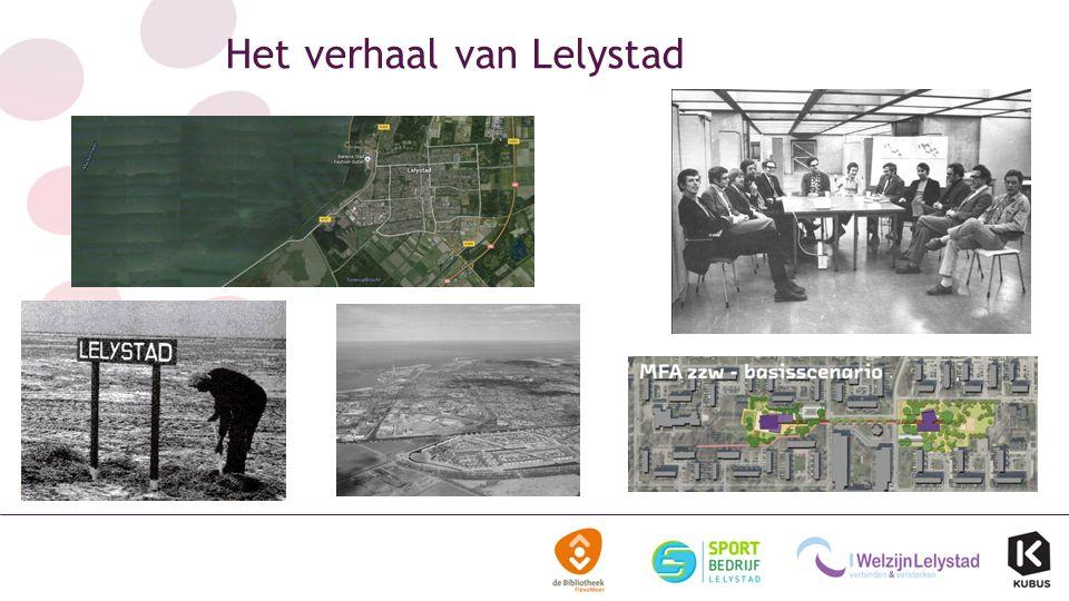 Bundelen van vakgebieden Ontwikkeling van Lelystad en de Lelystedelingen Sociale cohesie Lelykracht Maatschappelijk verantwoordelijk