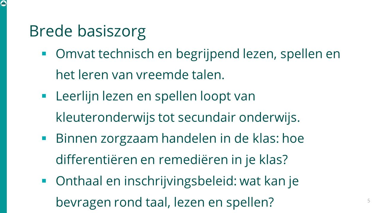 Evolutie diagnostiek leerstoornissen 2001 Label als vereiste voor integratie.