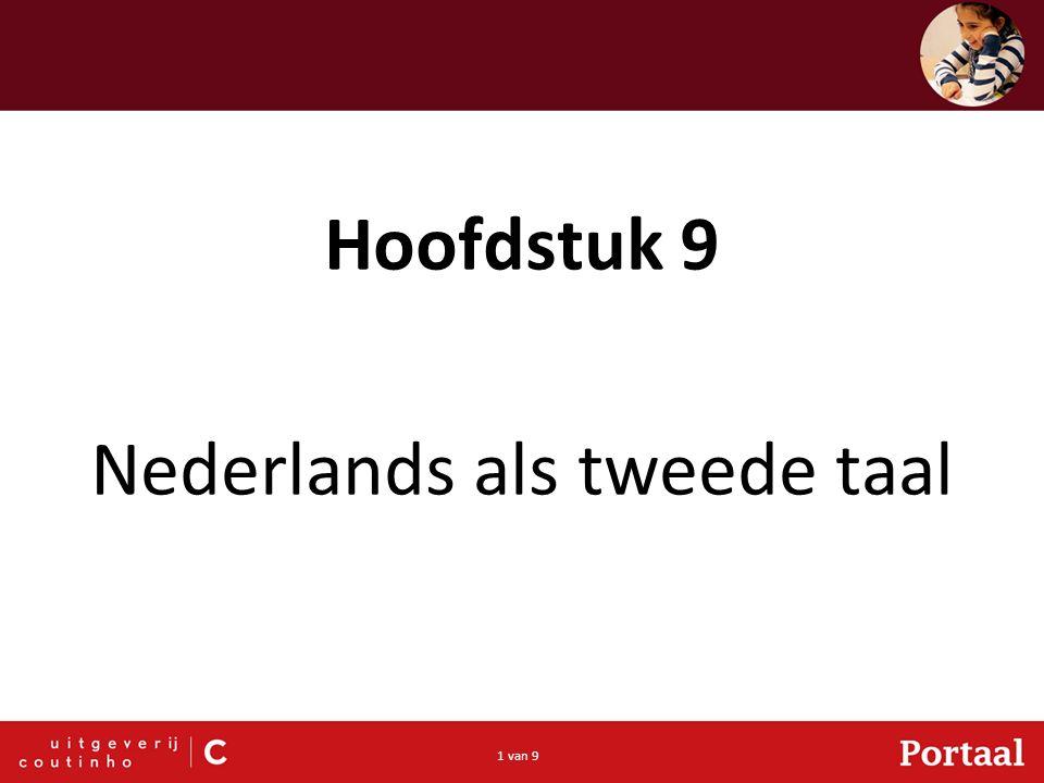 1 van 9 Hoofdstuk 9 Nederlands als tweede taal
