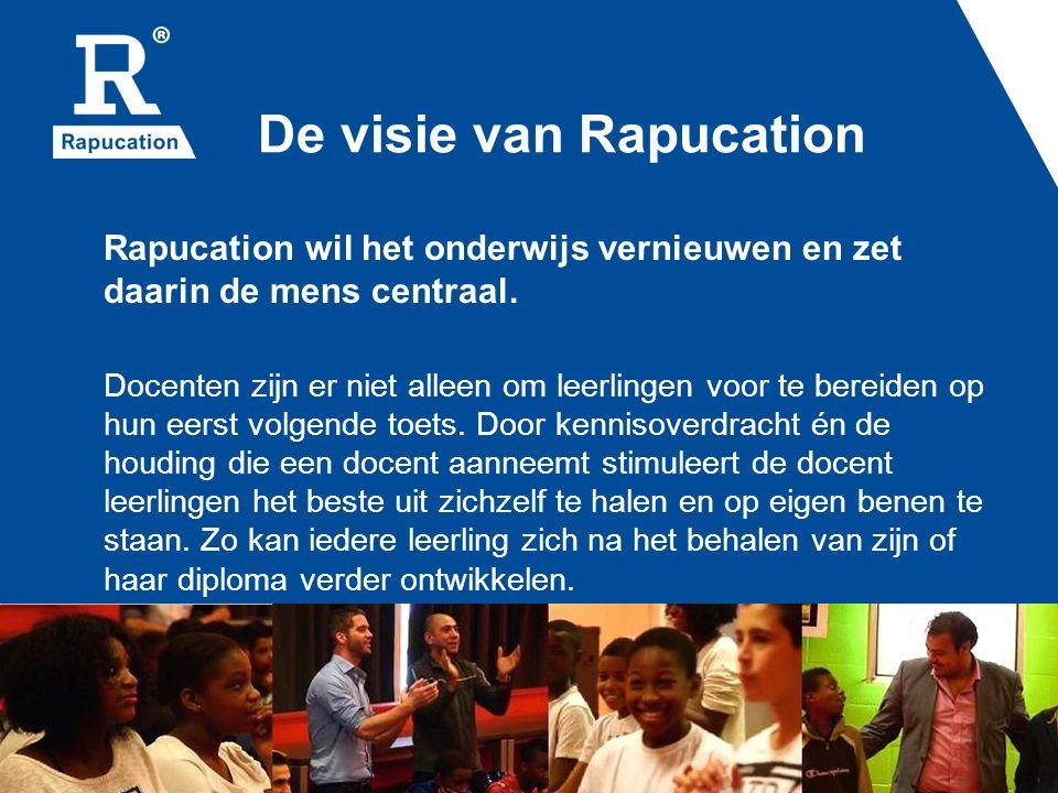 De visie van Rapucation Rapucation wil het onderwijs vernieuwen en zet daarin de mens centraal.