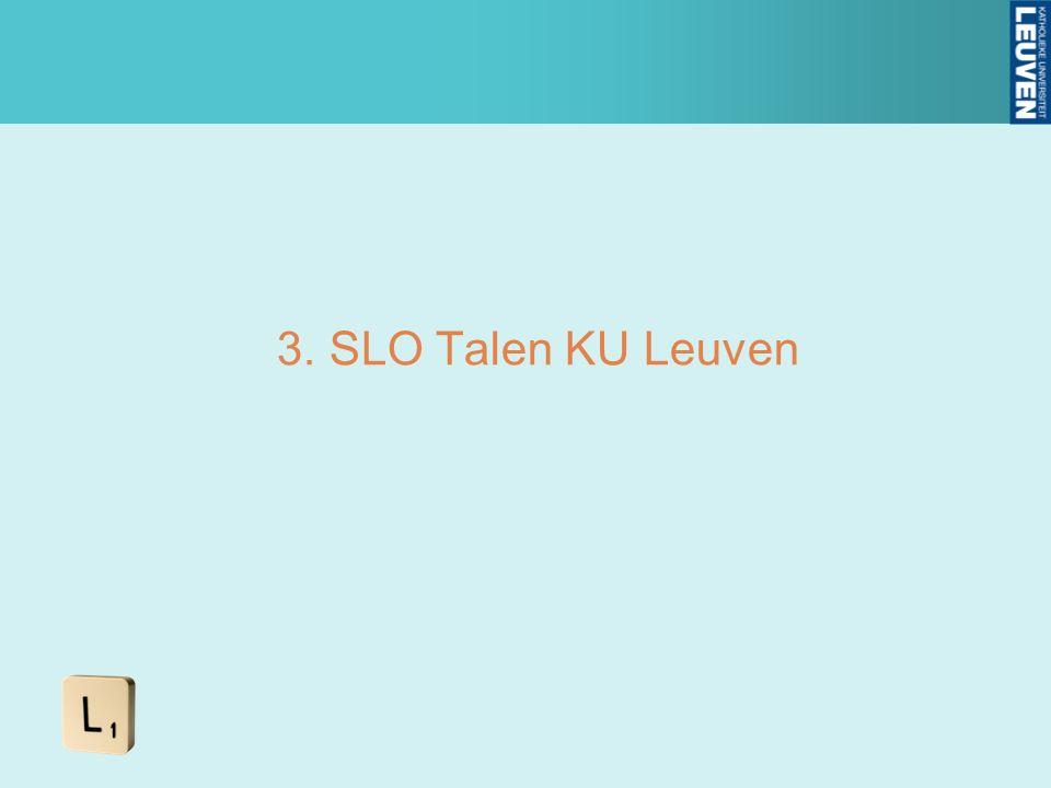 3.SLO Talen KU Leuven