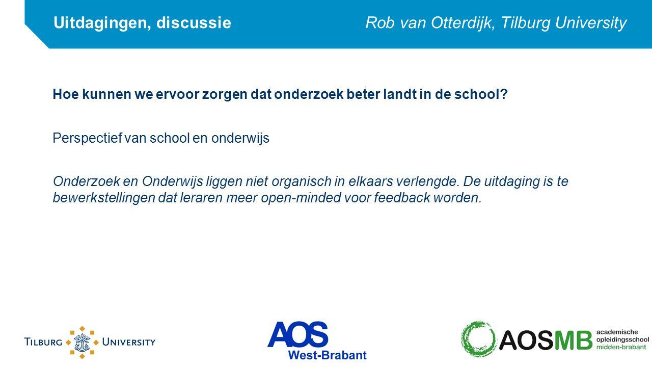 Hoe kunnen we ervoor zorgen dat onderzoek beter landt in de school? Perspectief van school en onderwijs Onderzoek en Onderwijs liggen niet organisch i