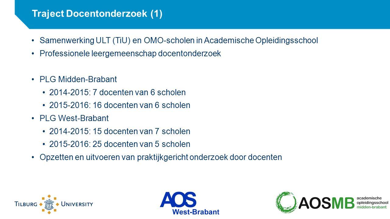 Samenwerking ULT (TiU) en OMO-scholen in Academische Opleidingsschool Professionele leergemeenschap docentonderzoek PLG Midden-Brabant 2014-2015: 7 do