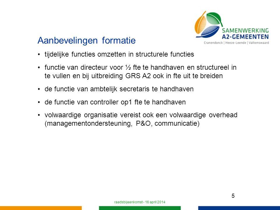 16 Samenwerking A2 gemeenten afdeling Werk en Inkomen afdeling Informatievoorziening en Automatisering afdeling Juridische zaken staf Effecten koersdocument zijn nog niet in de begroting verwerkt.