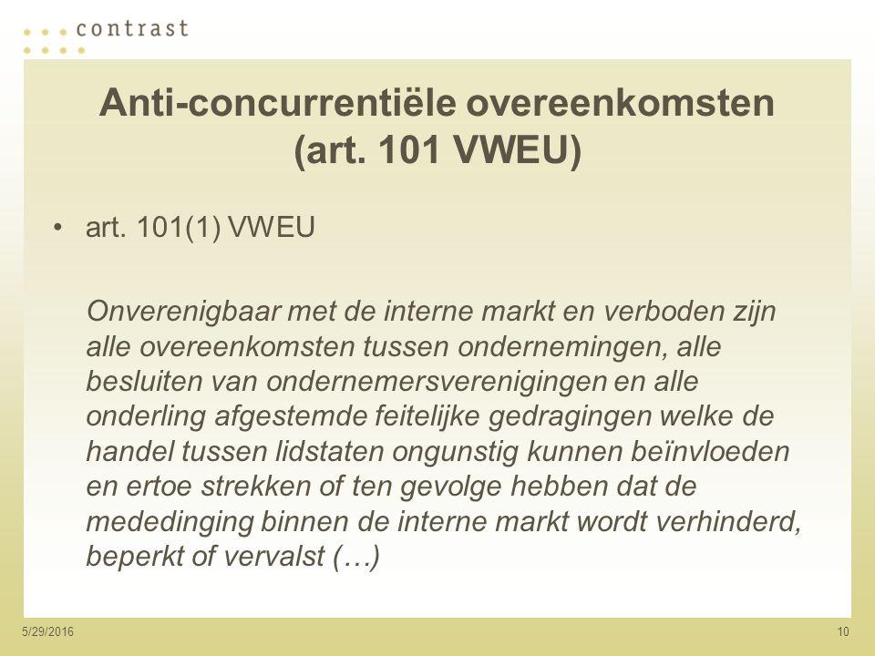 105/29/2016 Anti-concurrentiële overeenkomsten (art.