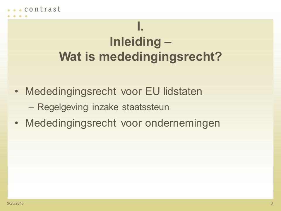 35/29/2016 I. Inleiding – Wat is mededingingsrecht.