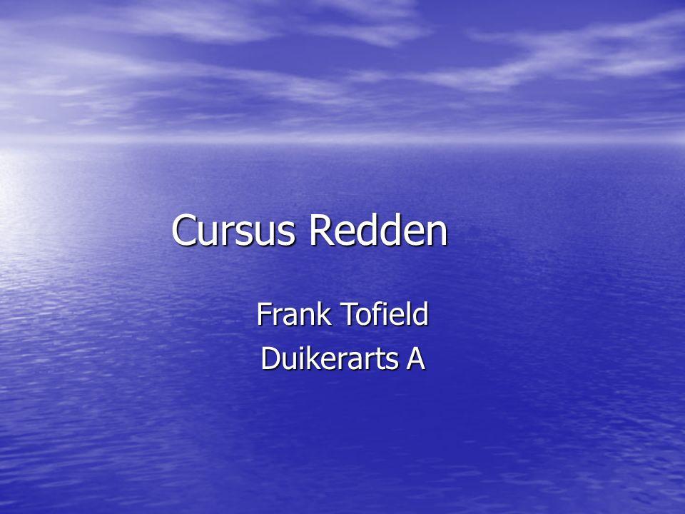 Cursus Redden Frank Tofield Duikerarts A