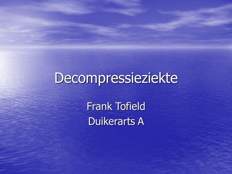 Decompressieziekte Frank Tofield Duikerarts A