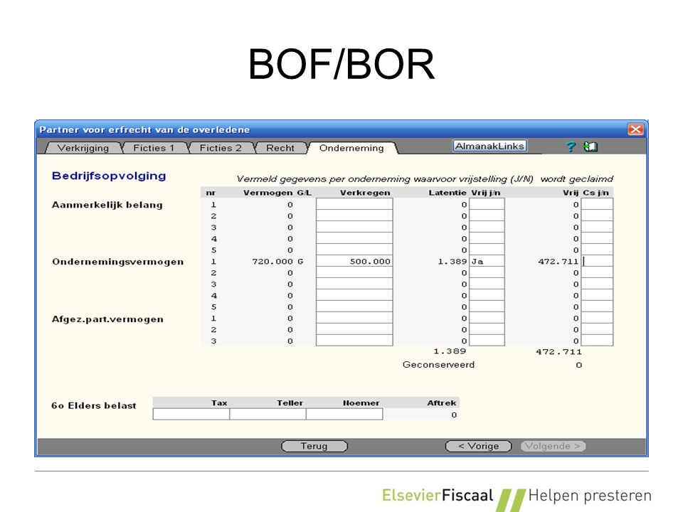 BOF/BOR