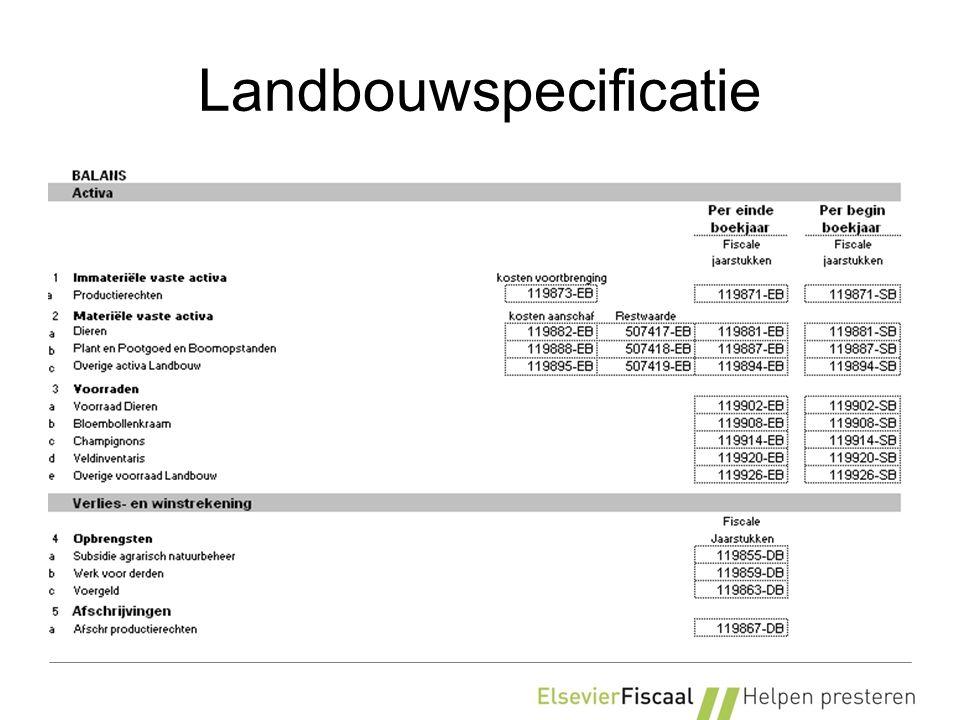 Landbouwspecificatie