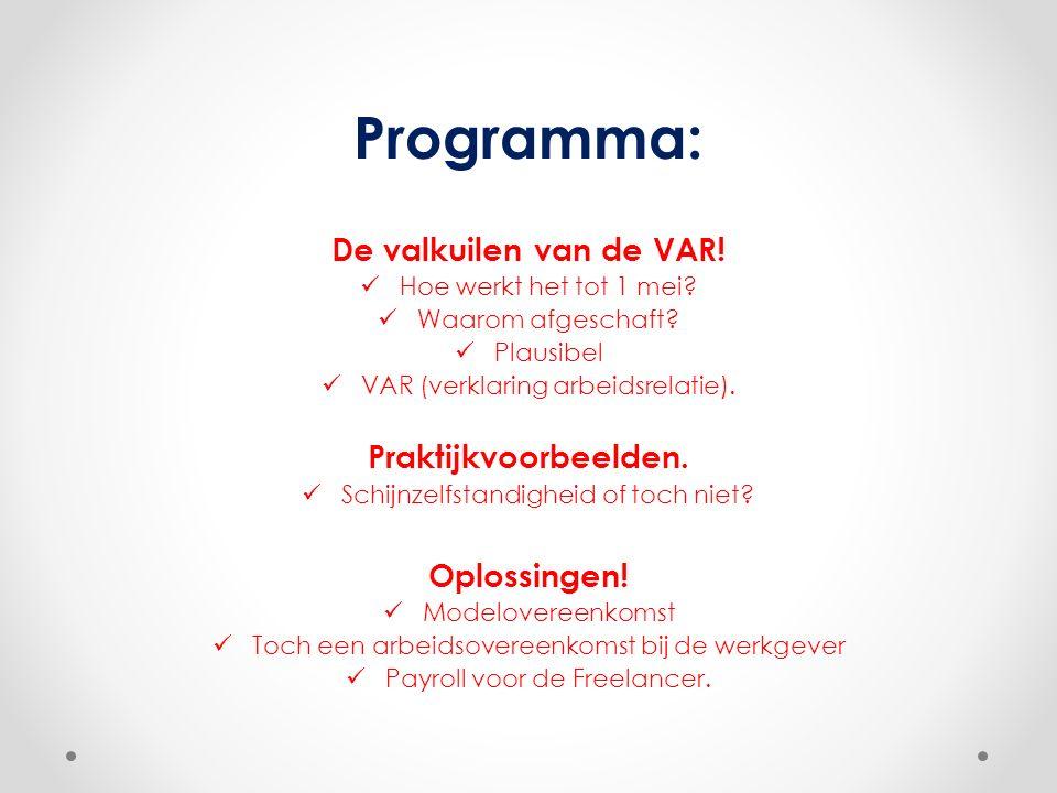 Programma: De valkuilen van de VAR. Hoe werkt het tot 1 mei.