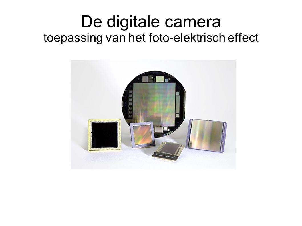 De digitale camera toepassing van het foto-elektrisch effect