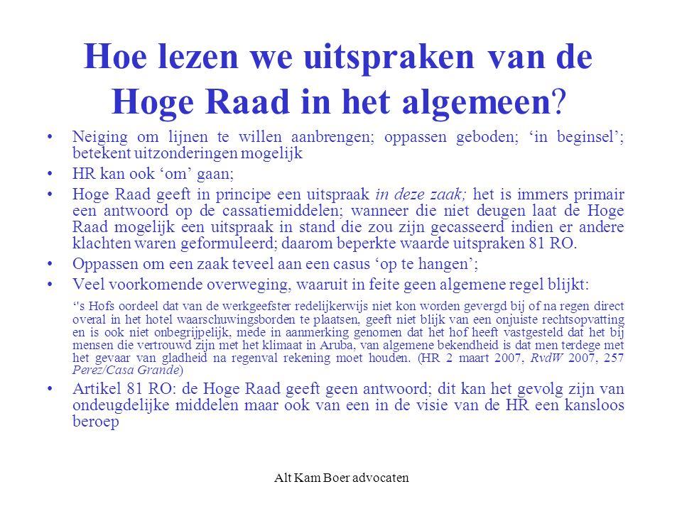 Alt Kam Boer advocaten Dus: wel of geen verzwaarde stelplicht werkgever.