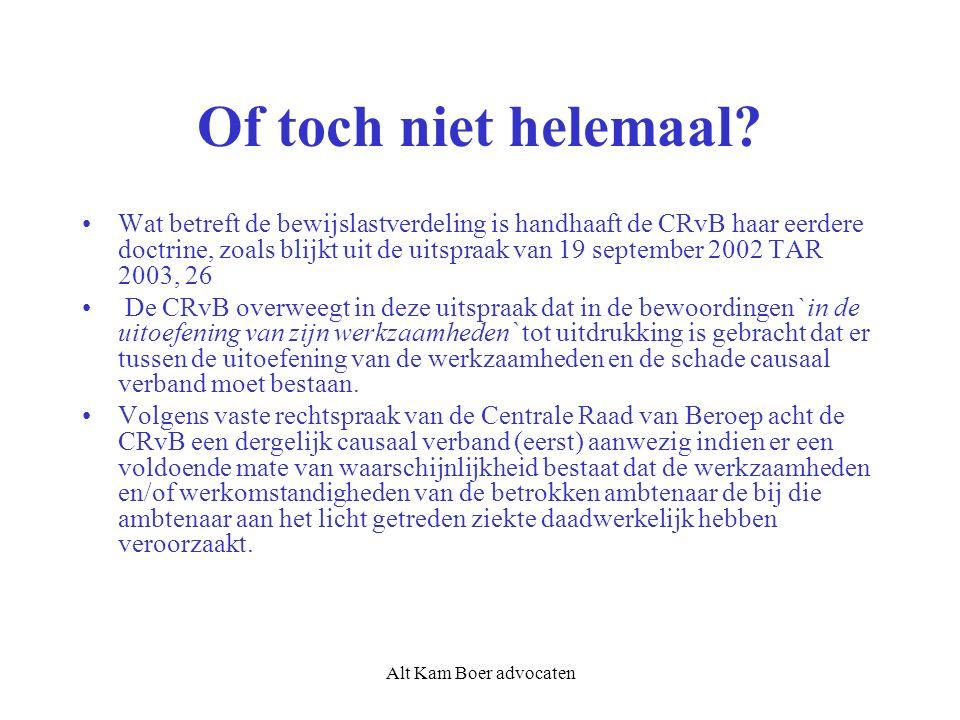 Alt Kam Boer advocaten Of toch niet helemaal.