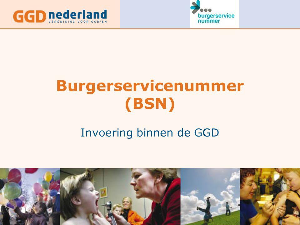 Burgerservicenummer (BSN) Invoering binnen de GGD