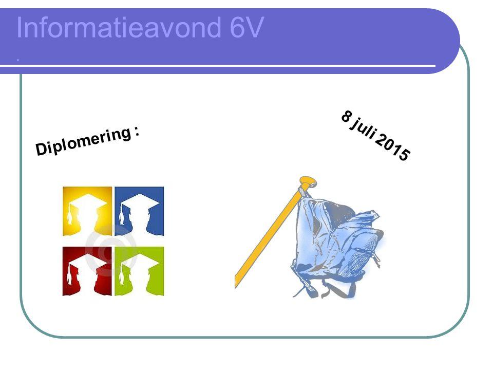Informatieavond 6V. Diplomering : 8 juli 2015