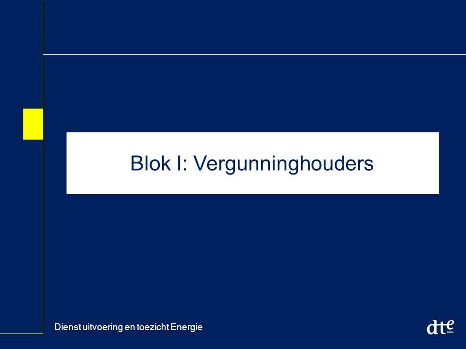 Dienst uitvoering en toezicht Energie Blok I: Vergunninghouders