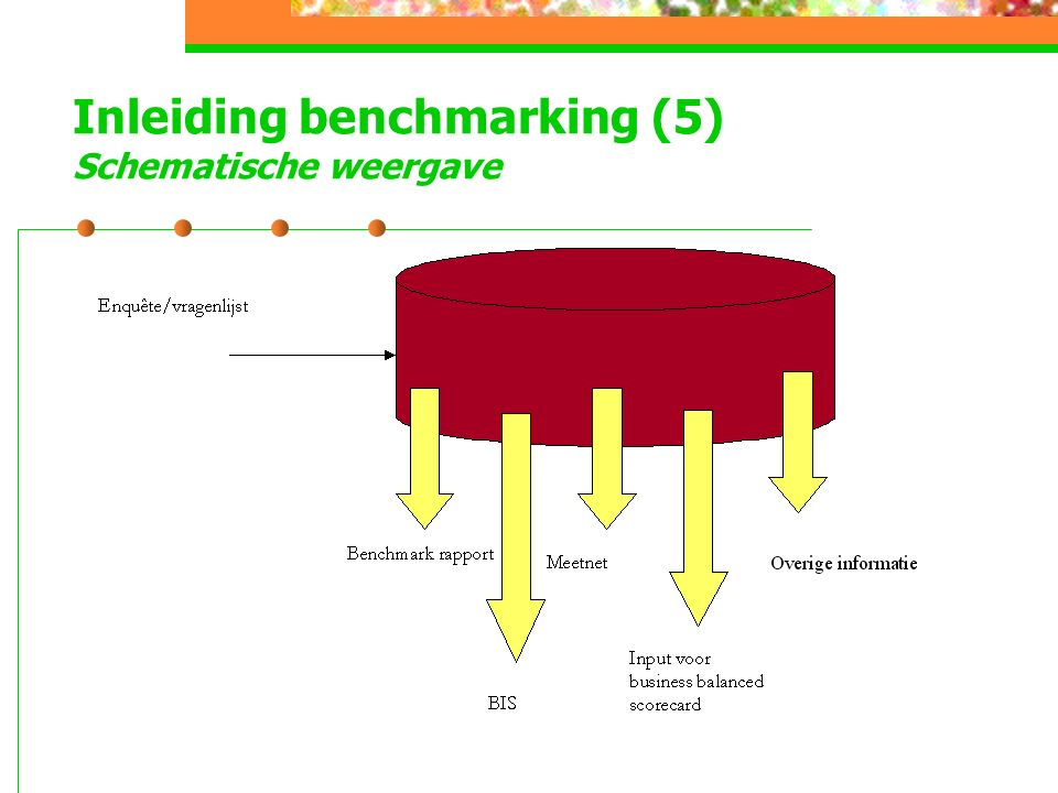 Inleiding benchmarking (5) Schematische weergave