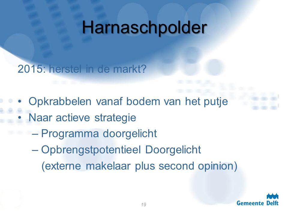 Harnaschpolder 2015: herstel in de markt.