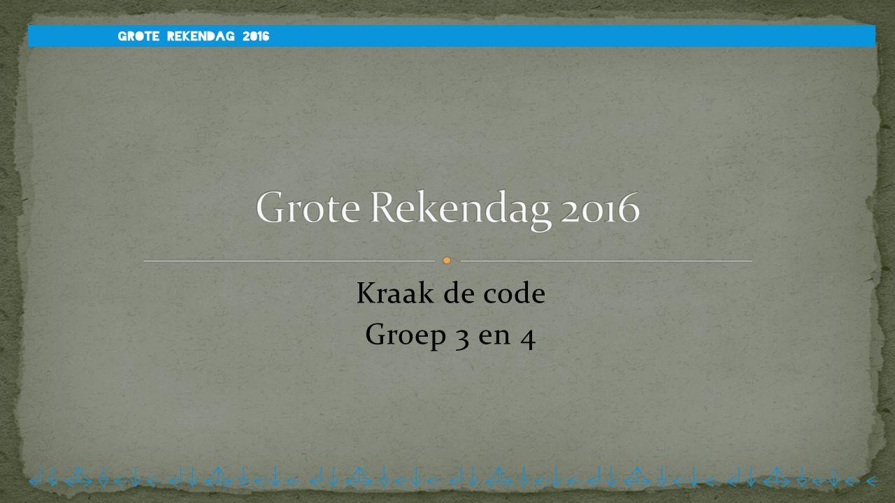 Kraak de code Groep 3 en 4