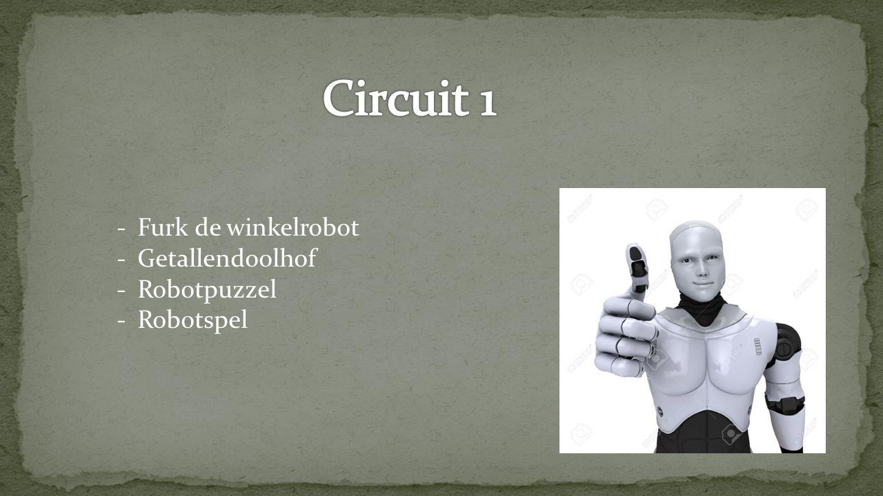 -Furk de winkelrobot -Getallendoolhof -Robotpuzzel -Robotspel