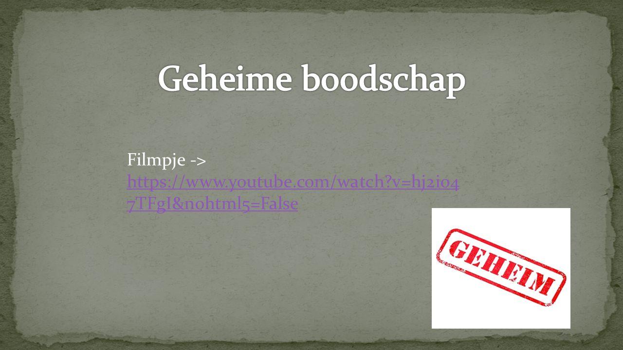 Filmpje -> https://www.youtube.com/watch?v=hj2i04 7TFgI&nohtml5=False https://www.youtube.com/watch?v=hj2i04 7TFgI&nohtml5=False