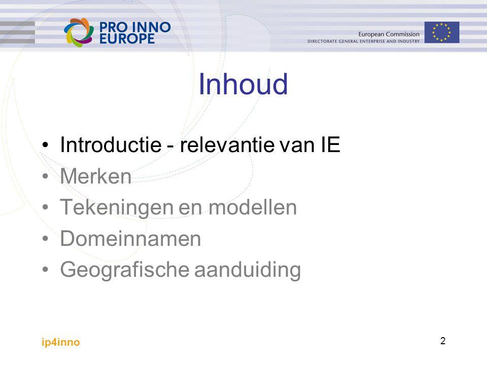 ip4inno 43 Vereisten om exclusieve rechten te verkrijgen Nieuwheid Individueel karakter (geeft een indruk van originaliteit)