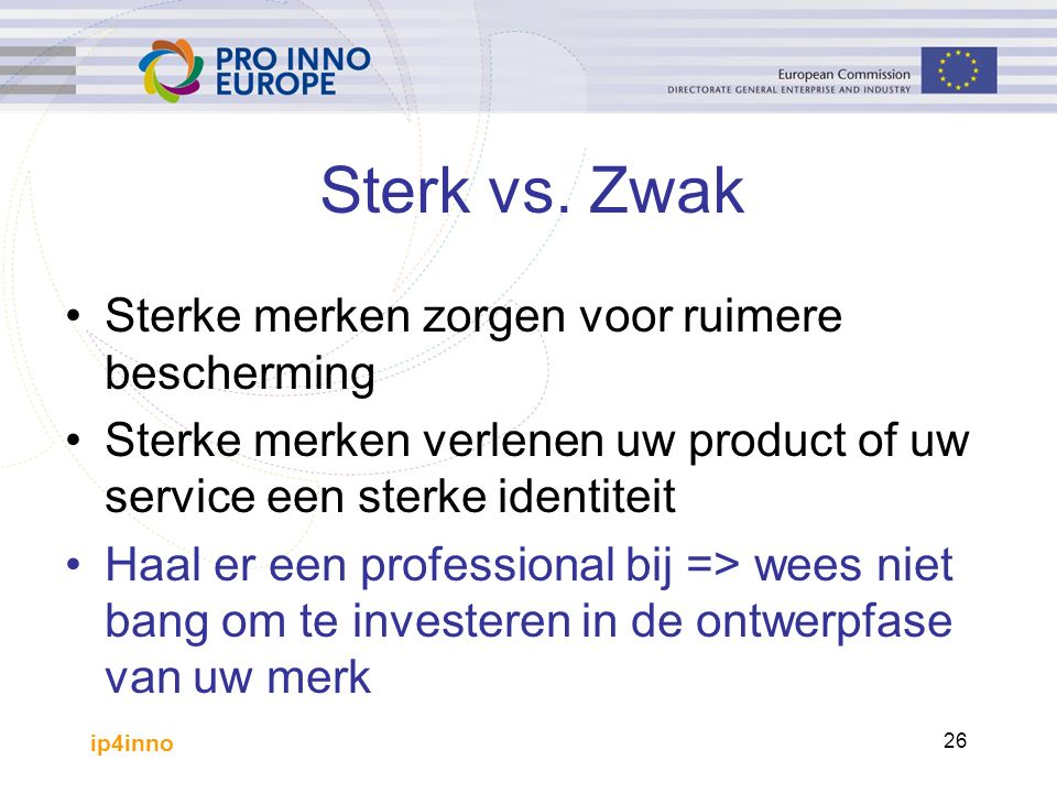ip4inno 26 Sterk vs.