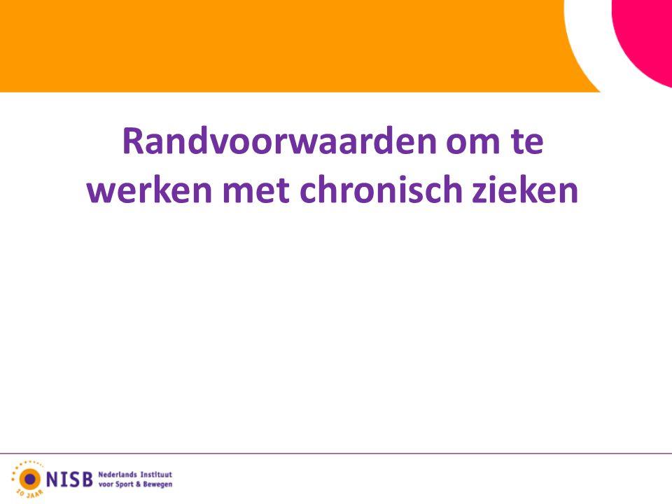 Richtlijnen voor bewegen bij type 2 diabetes Nederlandse Norm voor Gezond Bewegen Meeste sporten zijn geschikt, maar wel screening en deskundige begeleiding Consequente uitoefening