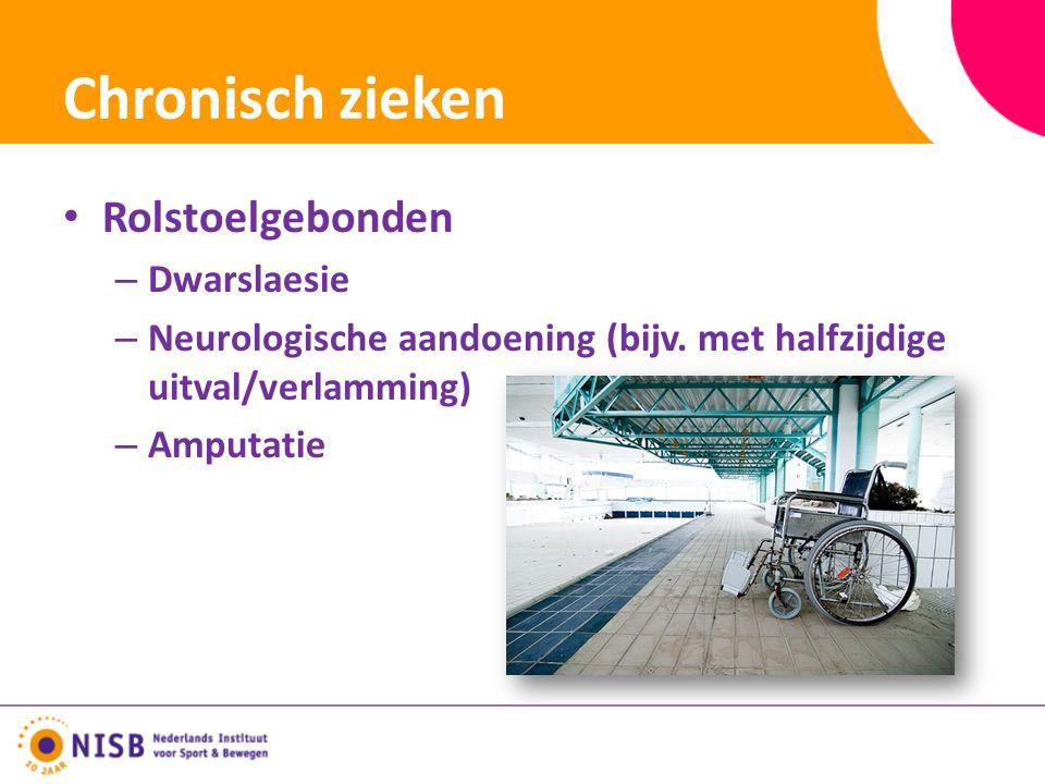 Chronisch zieken Rolstoelgebonden – Dwarslaesie – Neurologische aandoening (bijv.