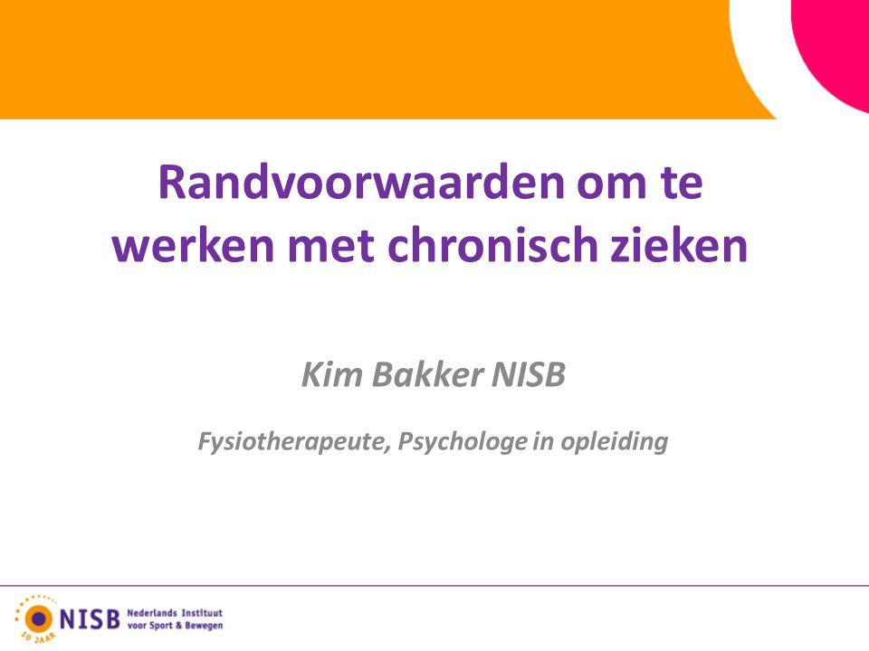 Kim Bakker NISB Fysiotherapeute, Psychologe in opleiding