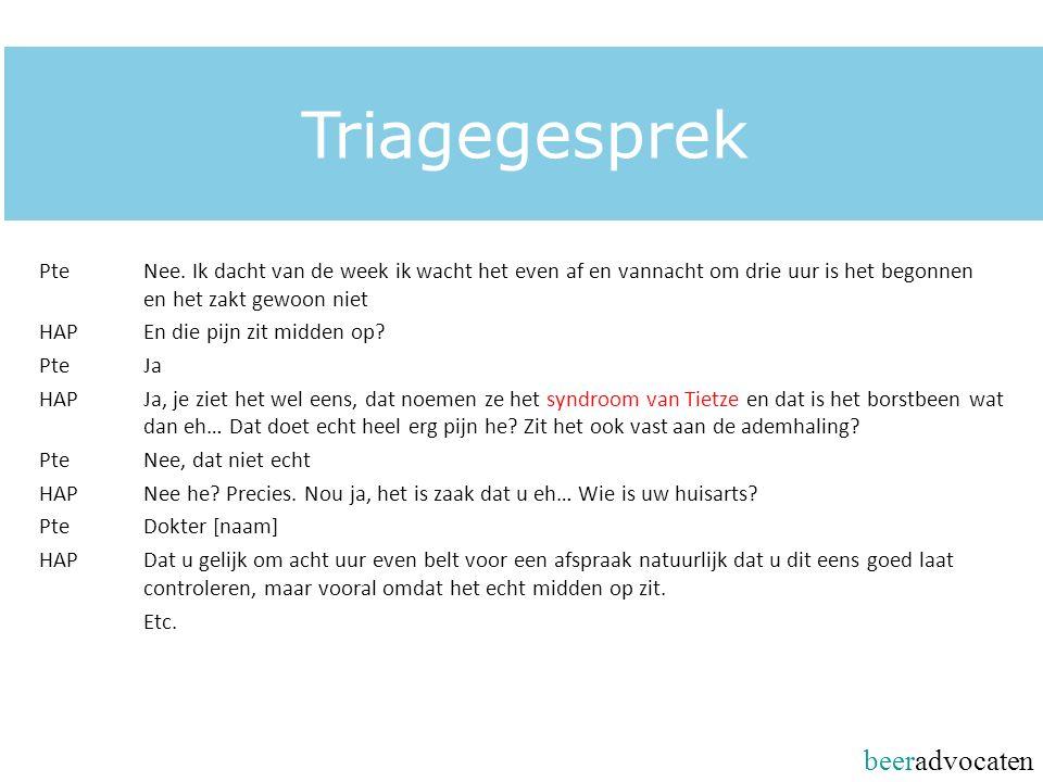 beeradvocaten Triagegesprek PteNee.