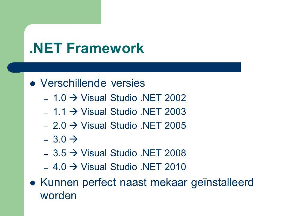 .NET Framework - schema