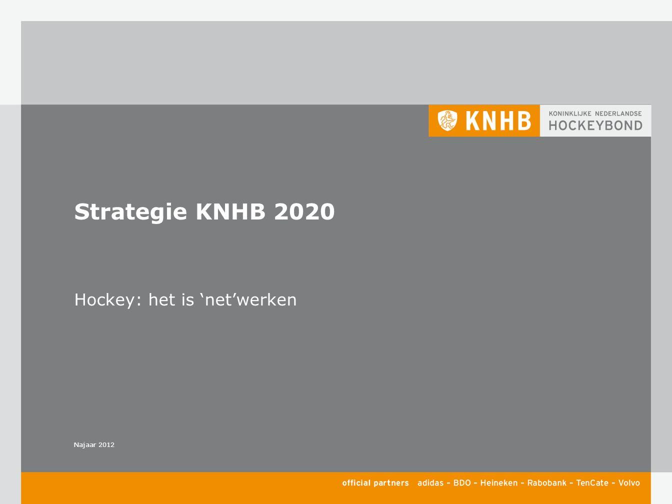 Najaar 2012 Hockey: het is 'net'werken Strategie KNHB 2020