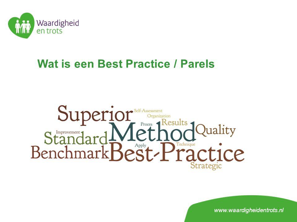 Wat is een Best Practice / Parels www.waardigheidentrots.nl