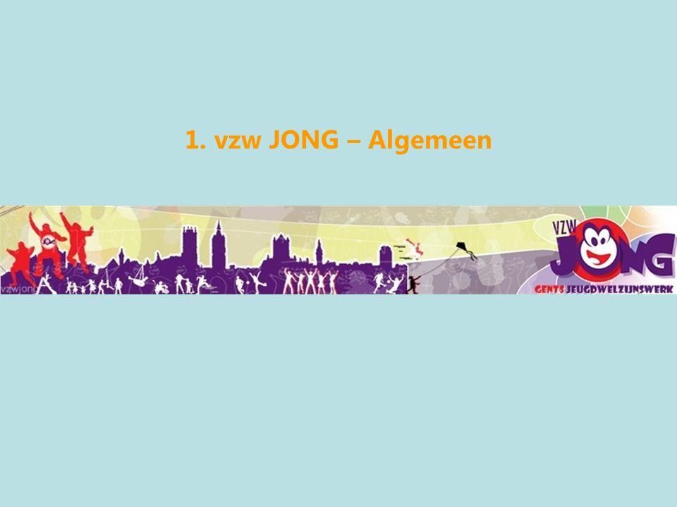 Middelen vzw Jong Wie krijgt geld hoe en waarWie krijgt geld hoe en waar Subsidieovereenkomst tussen VZW Jong (uitvoerder) en stadsbestuur Gent Geldig van –01-01-2009 tot 31-12-2013 Doel –Realiseren van het lokaal jeugdbeleid Gent