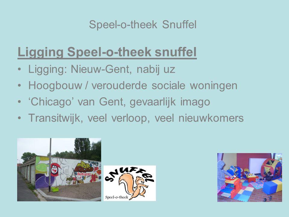Speel-o-theek Snuffel Ligging Speel-o-theek snuffel Ligging: Nieuw-Gent, nabij uz Hoogbouw / verouderde sociale woningen 'Chicago' van Gent, gevaarlij
